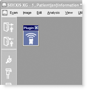 A push of the new SidexisMobilePlugin button placed inside SIDEXIS XG transfers all selected images to a connected iPhone or iPod touch.